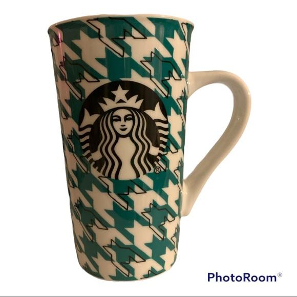Starbucks houndstooth ceramics mug
